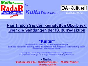Screenshot der Webseite der Kulturredaktion