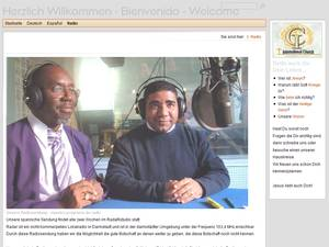 Screenshot der Webseite der International Church Rhein Main in eigenem Fenster