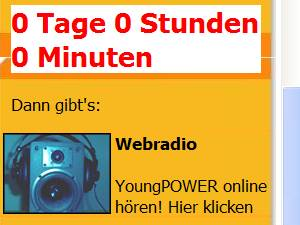 Screenshot der Young Power-Webseite