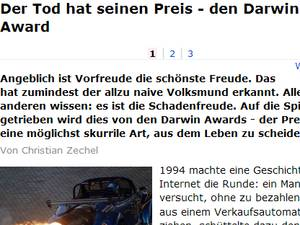 Screenshot von web.de