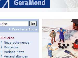 Screenshot der Webseite des Geramond Verlages