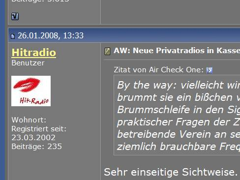 Screenshot von radioforen.de